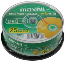 Maxell DVD-R diskas 4.7 GB, 16x, 25 vnt. Cake dėžutėje