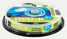 LiveStar DVD-R diskas 4.7 GB, 16x, 10 vnt. Shrink