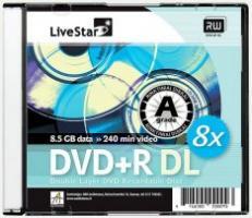 LiveStar DVD+R DL diskas 8.5 GB, 8x, Slim dėžutėje