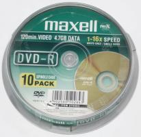 Maxell DVD-R diskas, 4.7 GB, 16x, 10 vnt. Cake dėžutėje