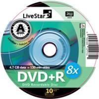 LiveStar DVD+R diskas 4.7 GB, 16x, 10 vnt. Shrink