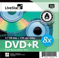 LiveStar DVD+R diskas 4.7 GB, 8x, Slim dėžutėje
