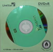 LiveStar DVD+R diskas 4.7 GB, 16x, voke