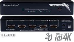 Key digital KD-4x1CSK HDMI 4:1 komutatorius